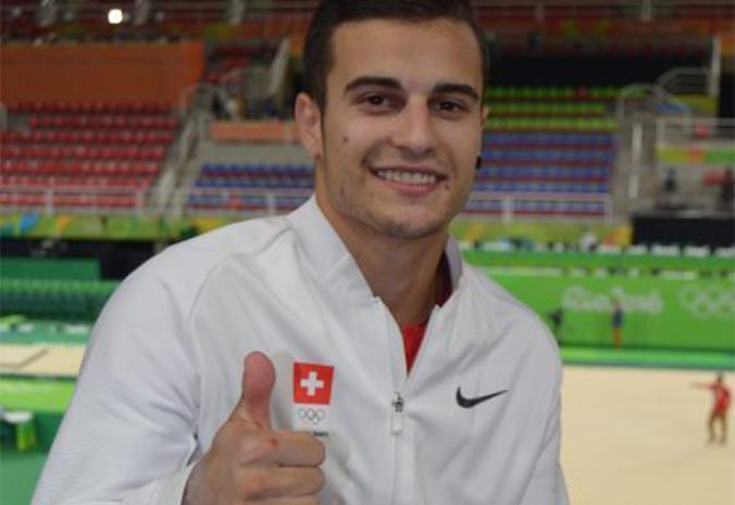 Pablo Brägger in der Olympiahalle in Rio